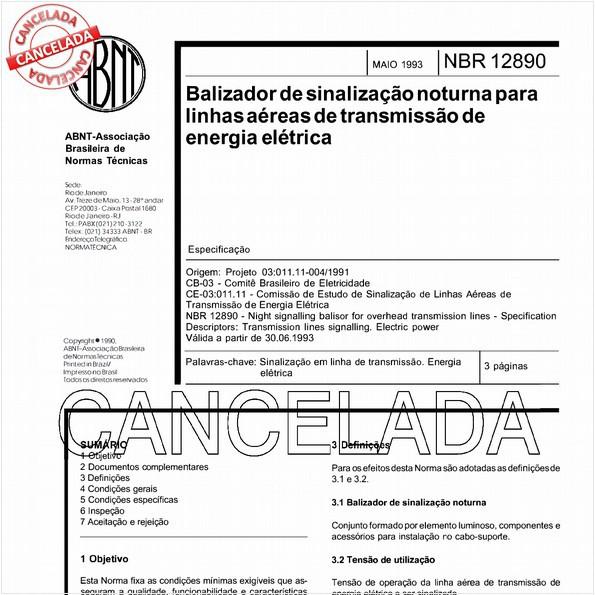 NBR12890 de 07/2005