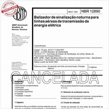 NBR12890 de 05/1993