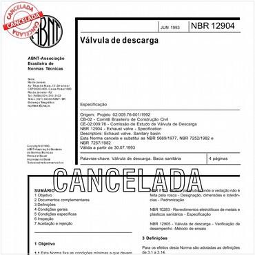 NBR12904 de 06/1993