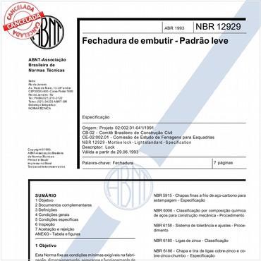 NBR12929 de 04/1993