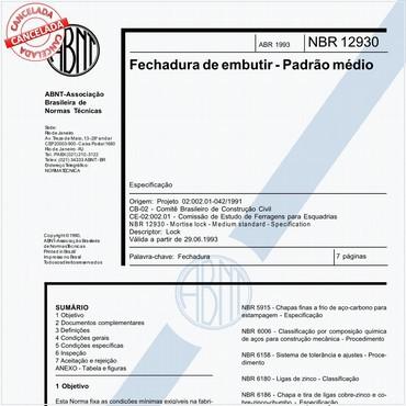 NBR12930 de 04/1993