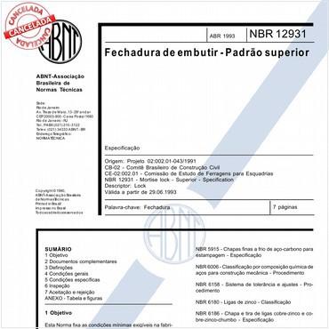 NBR12931 de 04/1993