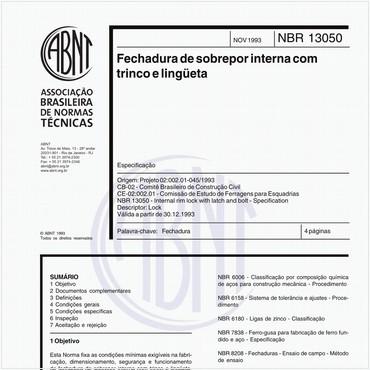 NBR13050 de 11/1993