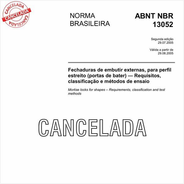 NBR13052 de 09/2011