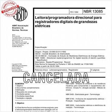 NBR13085 de 02/1994