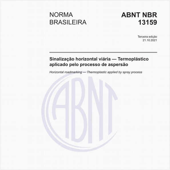Sinalização horizontal viária — Termoplástico aplicado pelo processo de aspersão