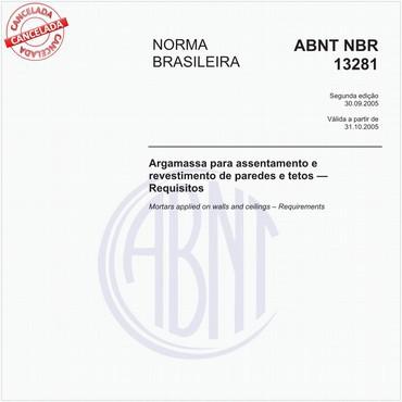 NBR13281 de 09/2005