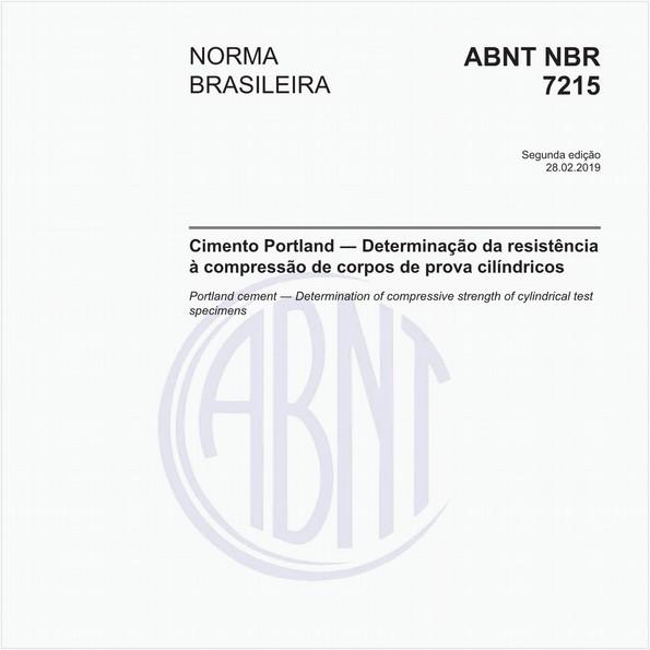 Cimento Portland - Determinação da resistência à compressão de corpos de prova cilíndricos