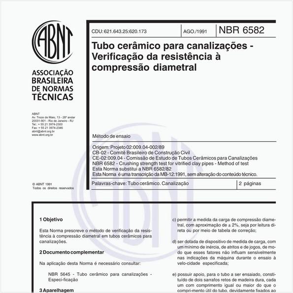 NBR6582 de 08/1991
