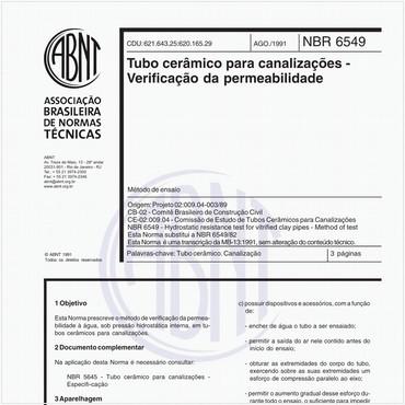 NBR6549 de 08/1991
