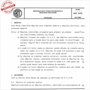 NBR10722 de 09/1989