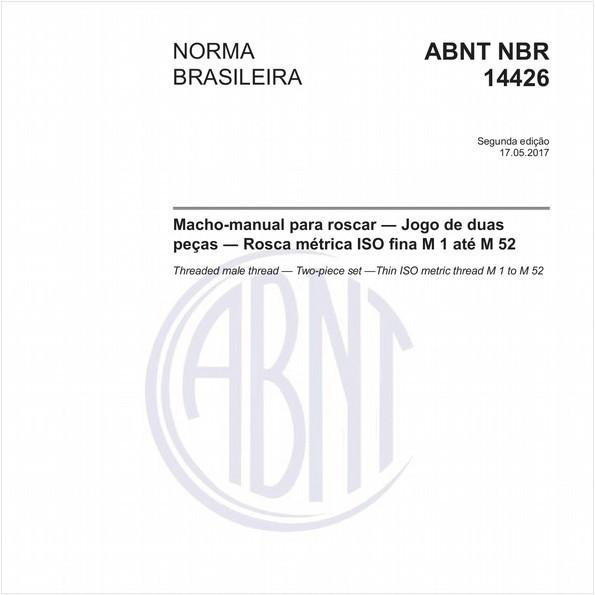 Macho-manual para roscar - Jogo de duas peças - Rosca métrica ISO fina M 1 até M 52