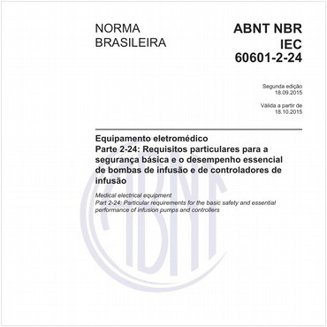 NBRIEC60601-2-24 de 09/2015