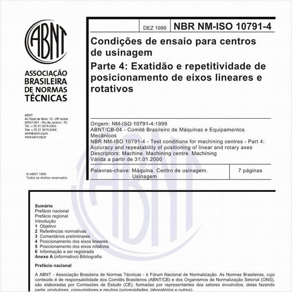 NBRNM-ISO10791-4 de 12/1999