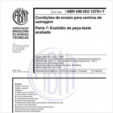 NBRNM-ISO10791-7 de 12/1999