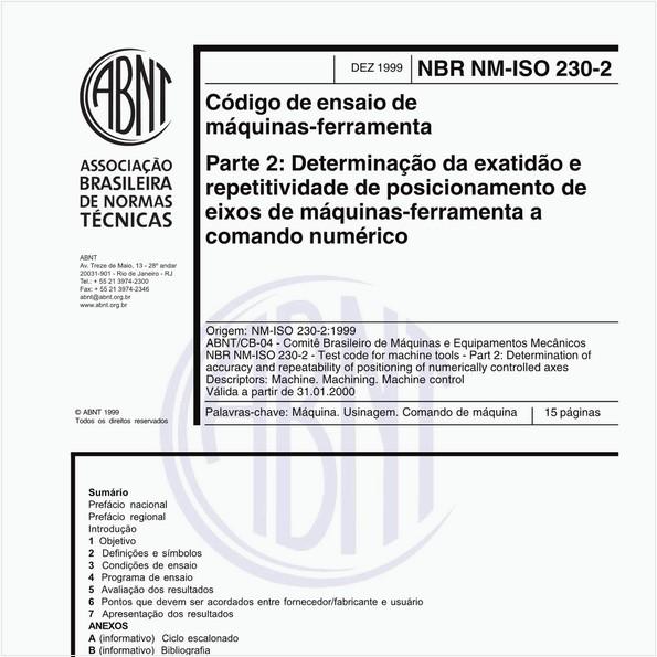NBRNM-ISO230-2 de 12/1999