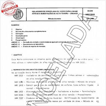 NBR5049 de 01/1985