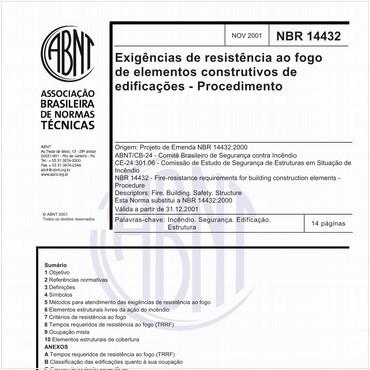 NBR14432 de 11/2001