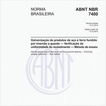 NBR7400 de 11/2015