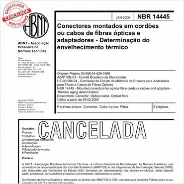 NBR14445 de 01/2000