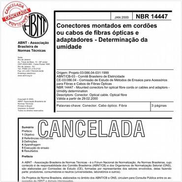NBR14447 de 01/2000