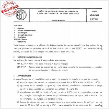 NBR6508 de 10/1984