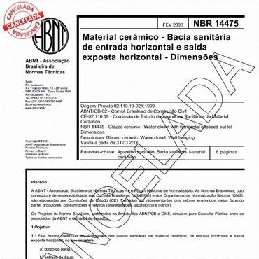 NBR14475 de 02/2000