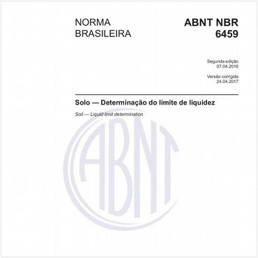 NBR6459 de 04/2016