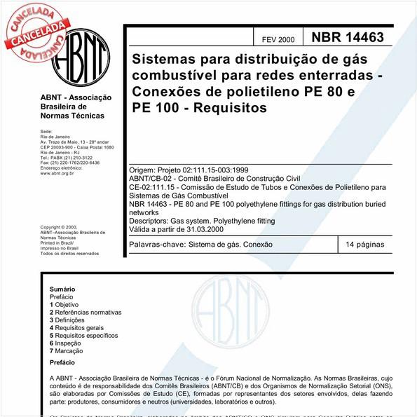 NBR14463 de 11/2016