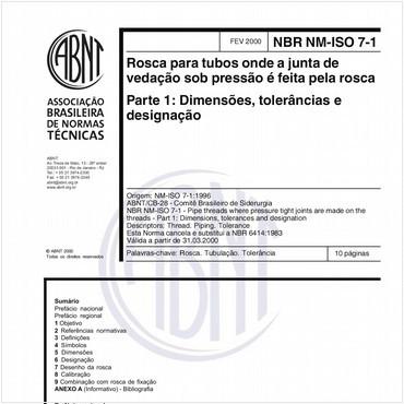 NBRNM-ISO7-1 de 02/2000