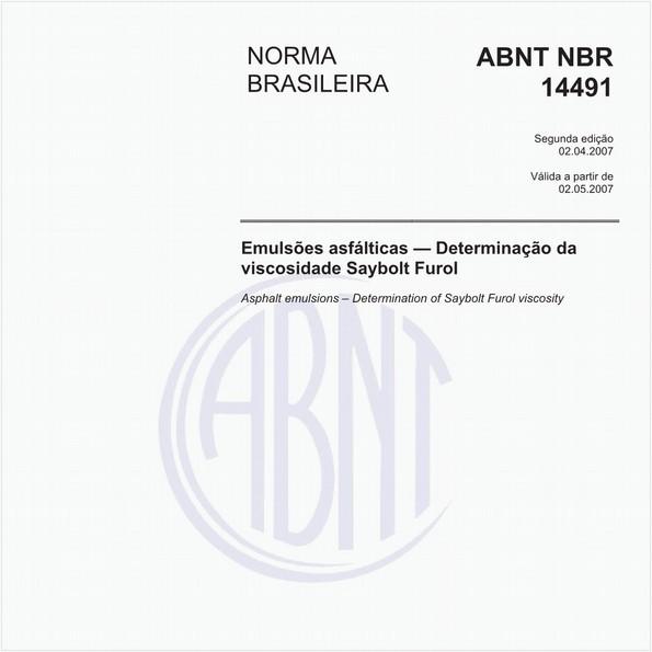 Emulsões asfálticas - Determinação da viscosidade Saybolt Furol
