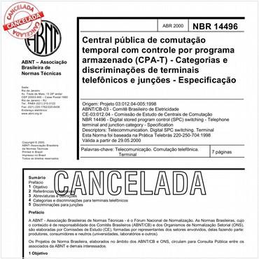 NBR14496 de 04/2000