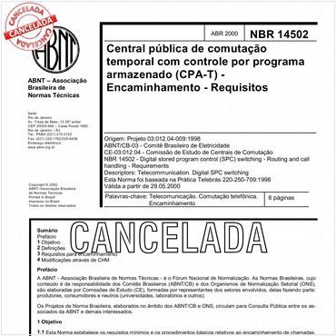 NBR14502 de 04/2000