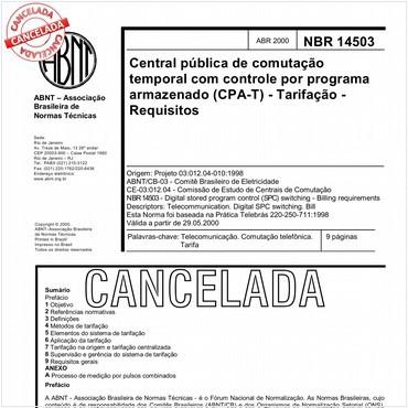NBR14503 de 04/2000