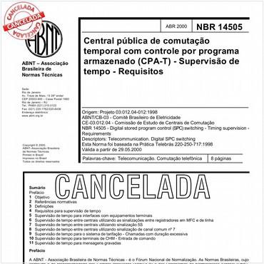 NBR14505 de 04/2000
