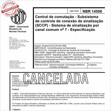 NBR14508 de 04/2000
