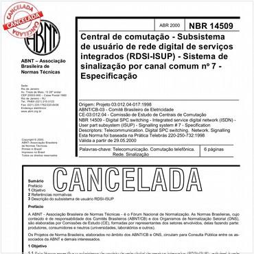 NBR14509 de 04/2000