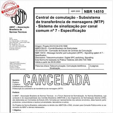 NBR14510 de 04/2000