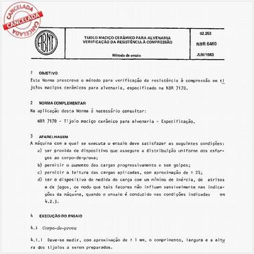 NBR6460 de 06/1983