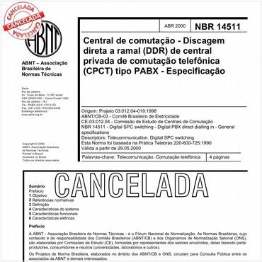 NBR14511 de 04/2000