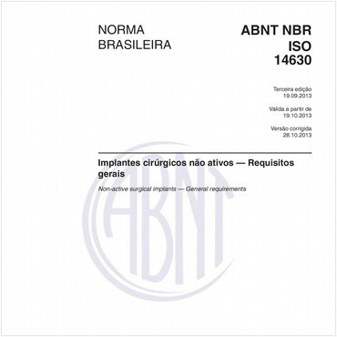 NBRISO14630 de 09/2013