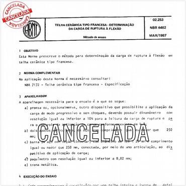 NBR6462 de 03/1987