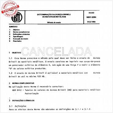 NBR6394 de 12/1980