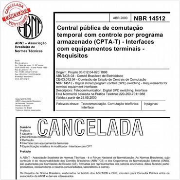 NBR14512 de 04/2000