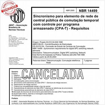 NBR14499 de 04/2000