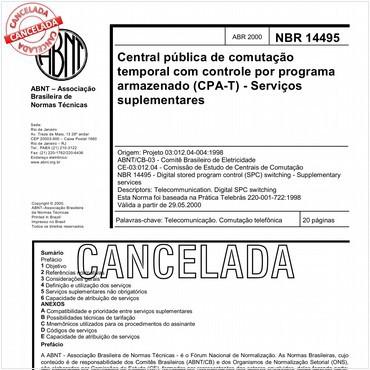 NBR14495 de 04/2000