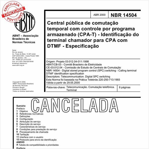 NBR14504 de 09/2010