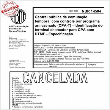 NBR14504 de 04/2000