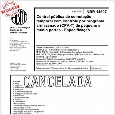 NBR14507 de 04/2000