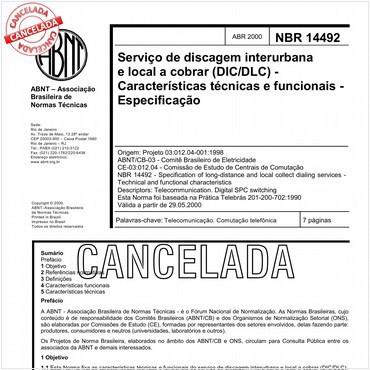 NBR14492 de 04/2000